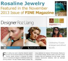 Rosaline Jewelry Featured in the November 2013 Issue of Fine Magazine